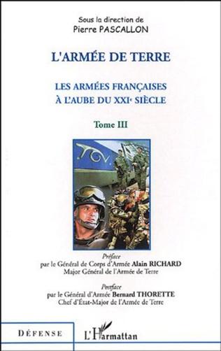 Couverture L'armée de terre Tome III