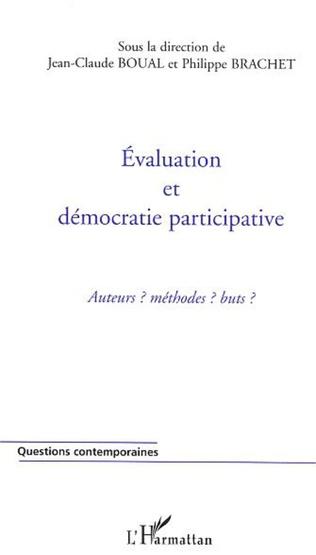 Couverture Evaluation et démocratie participative