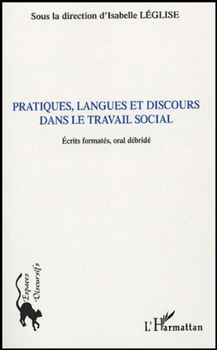 Couverture Pratiques, langues et discours dans le travail social