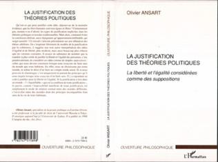 Couverture La justification des théories politiques