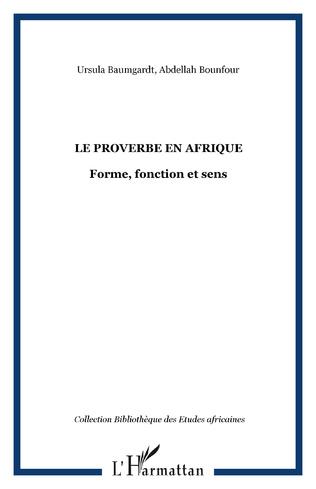 Couverture Le proverbe en Afrique