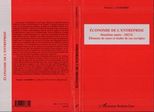 Couverture Economie de l'Entreprise
