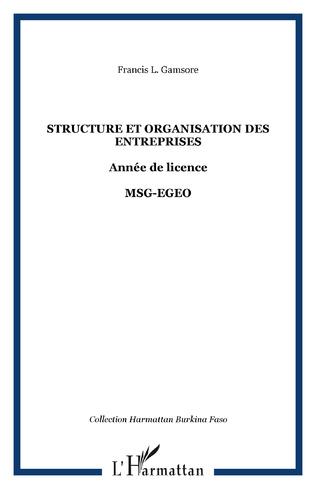Couverture Structure et organisation des entreprises