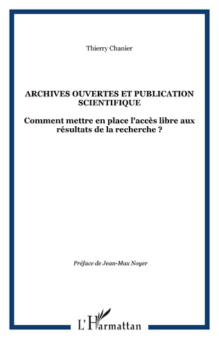 Couverture Archives ouvertes et publication scientifique