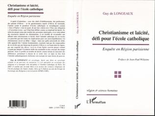 Couverture Christianisme et laïcité, défi pour l'école catholique