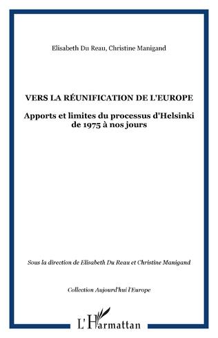 Couverture Vers la réunification de l'Europe