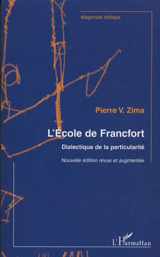 Couverture Ecole de Francfort