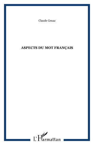 Couverture Aspects du mot français