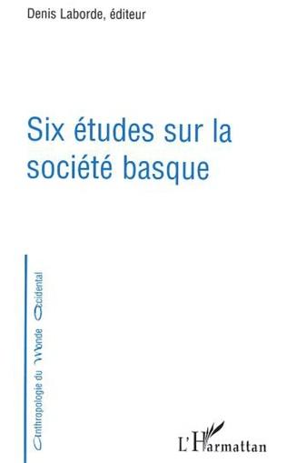 Couverture Six études sur la société basque