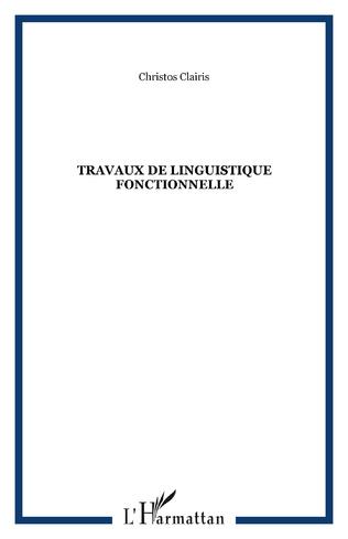 Couverture Travaux de linguistique fonctionnelle