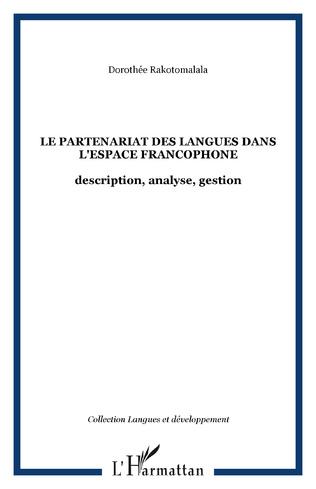 Couverture Le partenariat des langues dans l'espace francophone
