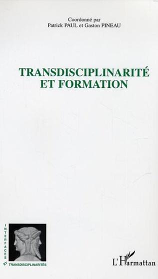 Couverture Transdisciplinarité et formation