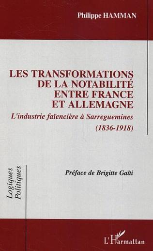 Couverture Les transformations de la notabilité entre France et Allemagne