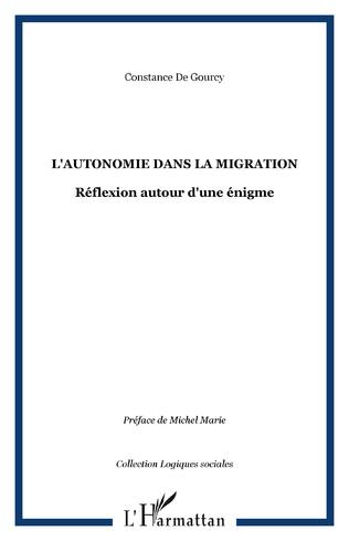 Couverture L'autonomie dans la migration