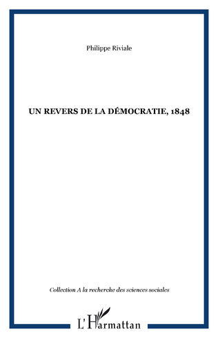 Couverture Un revers de la démocratie, 1848
