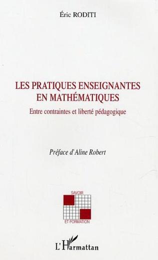 Couverture Les pratiques enseignantes en mathématiques