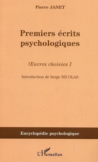 Couverture Premiers écrits psychologiques