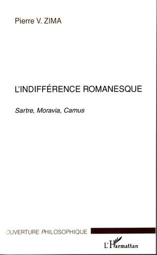 Couverture L'indifférence romanesque