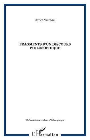 Couverture Fragments d'un discours philosophique