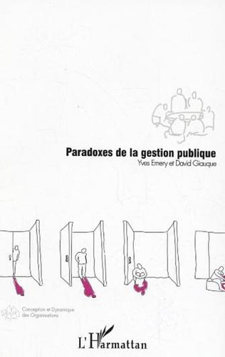 Couverture Paradoxes de la gestion publique