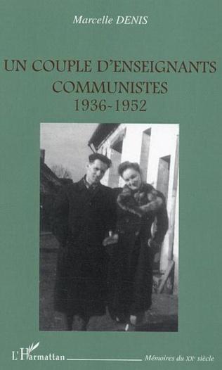 Couverture Un couple d'enseignants communistes