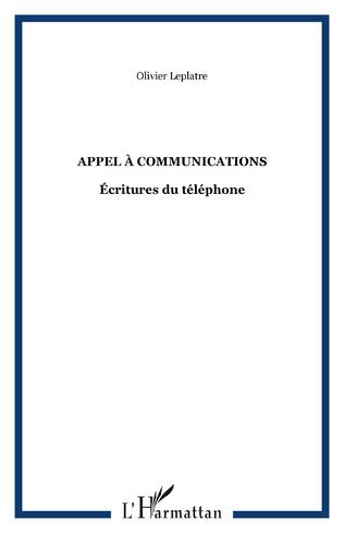 Couverture Appel à communications
