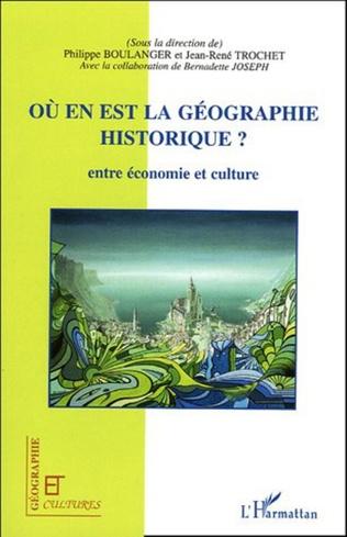 Couverture Où en est la géographie historique ?