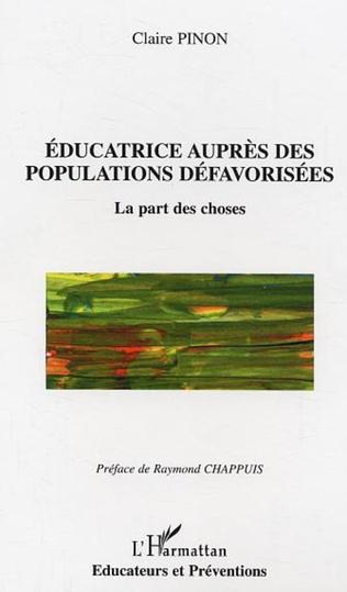 Couverture Educatrice auprès des populations défavorisées