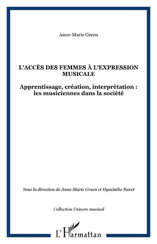 Couverture L'accès des femmes à l'expression musicale