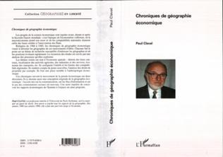 Couverture Chroniques de géographie économique