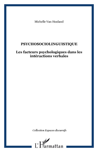 Couverture Psychosociolinguistique