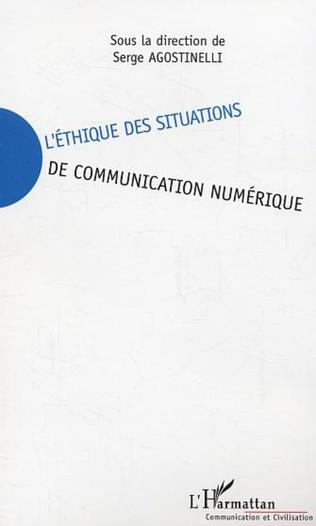 Couverture L'éthique des situations de communication numérique