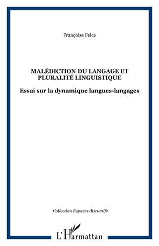 Couverture Malédiction du langage et pluralité linguistique