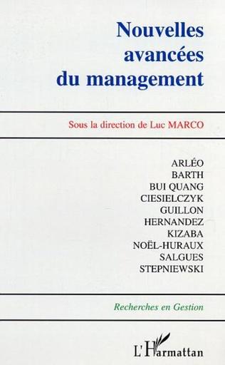 Couverture Nouvelles avancées du management