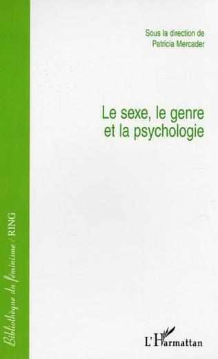 Couverture Le sexe, le genre et la psychologie