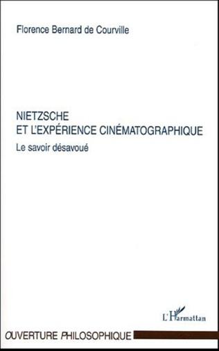 Couverture Nietzsche et l'expérience cinématographique