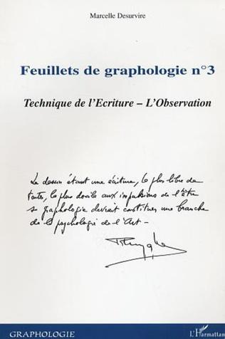 Couverture Feuillets de graphologie n°3