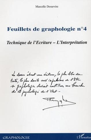 Couverture Feuillets de graphologie n°4