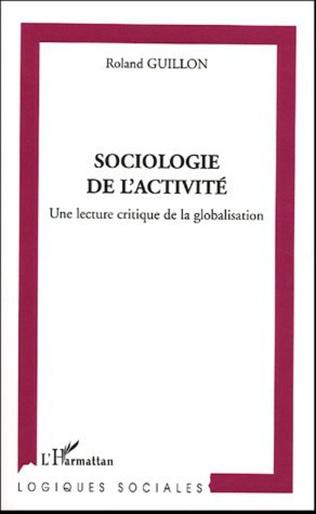 Couverture Sociologie de l'activité
