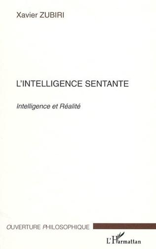 Couverture L'intelligence sentante