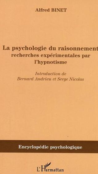 Couverture La psychologie du raisonnement