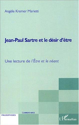 Couverture Jean-Paul Sartre et le désir d'être