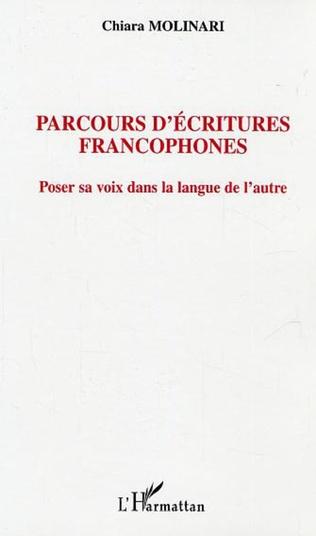 Couverture Parcours d'écritures francophones