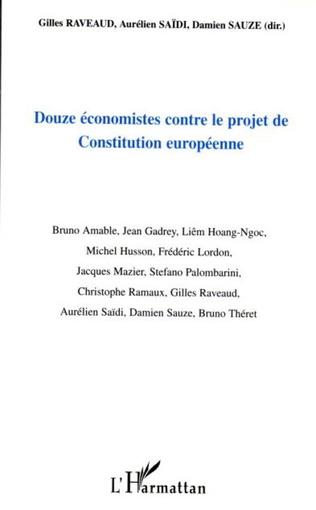 Couverture Douze économistes contre le projet de Constitution européenne