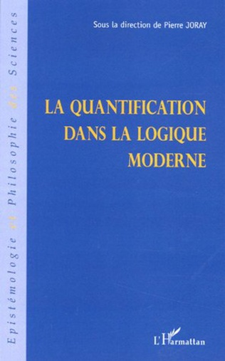 Couverture La quantification dans la logique moderne