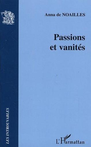 Couverture Passions et vanités