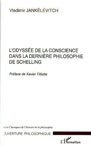Couverture L'odyssée de la conscience dans la dernière philosophie de Schelling