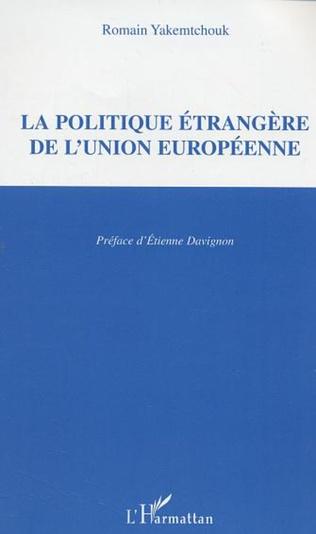 Couverture La politique étrangère de l'Union européenne