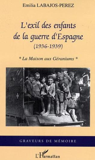 Couverture L'exil des enfants de la guerre d'Espagne