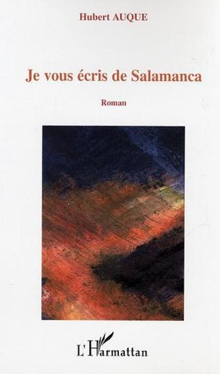 Couverture Je vous écris de Salamanca